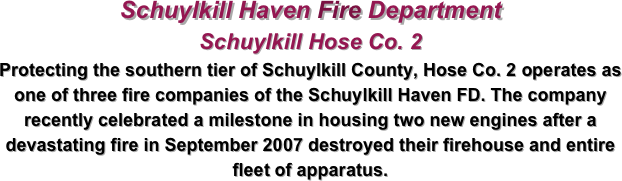 Schuylkill Haven Fire Department